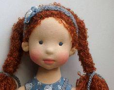 Waldorf Doll PEARL 17.7 45 sm OOAK Waldorf Doll