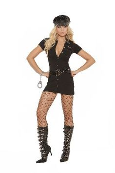 Elegant Moments Lingerie Police Woman Cop Fancy Bad things go through this  officers mind! Dress