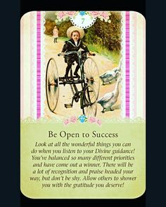 ~Be Open to Success card from Guardian Angel Tarot Cards by Doreen Virtue and Radleigh Valentine~