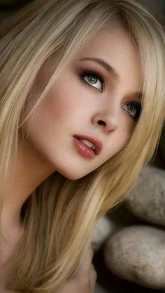 All beautiful women most beautiful faces, beautiful eyes, beautiful picture Beauté Blonde, Blonde Beauty, Hair Beauty, Beauty Makeup, Eye Makeup, Hair Makeup, Lovely Eyes, Most Beautiful Faces, Girl Face