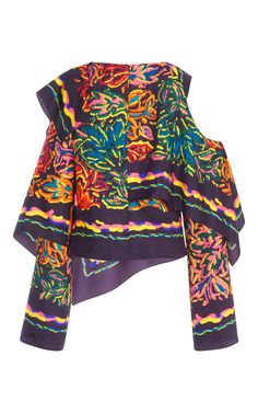 GABRIELLE'S AMAZING FANTASY CLOSET | Peter Pilotto's Outrageous Multi-Colored Silk Layered Scarf Blouse (Back View) You can see the Front View and the rest of the Outfit and my Remarks on this board. - Gabrielle