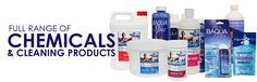 hot tub spa and pool chemicals, chlorine, bromine, non chlorine shock, filter cleaner etc..  www.poolmonster.co.uk