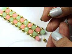 Lady Luck Bracelet Beading Tutorial by HoneyBeads1 (Photo tutorial) - YouTube