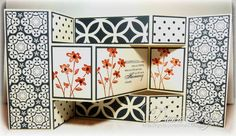 Black and White Tri Fold Card