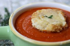 Inside a British Mum's Kitchen: Tomato Soup with Cheese Toasts