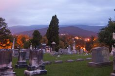 East Hill Cemetery in Salem, Va with Roanoke College in the background