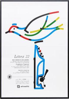 Olivetti Poster オリベッティ ポスター / Giovanni Pintori 1959 ジョバンニ・ピントーリ