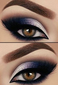 Purple Eye Makeup, Eye Makeup Tips, Makeup Trends, Eyeshadow Makeup, Makeup Brushes, Beauty Makeup, Eye Trends, Makeup Ideas 2018, Makeup Geek