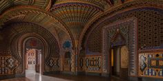 Sammezzano Castle is a breath-taking feat of Moorish Revival architecture, tucked away amidst a gorgeous wooded estate in Tuscany, Italy. It was constructed