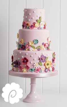 Poppy Pickering create beautiful bespoke wedding cakes, celebration cakes, cupcakes & chocolates supplied throughout West Yorkshire including Ripon, Harrogate, York and Leeds. Gorgeous Cakes, Pretty Cakes, Cute Cakes, Amazing Cakes, Fondant Cakes, Cupcake Cakes, Fondant Girl, Bolo Cake, Birthday Cake Girls
