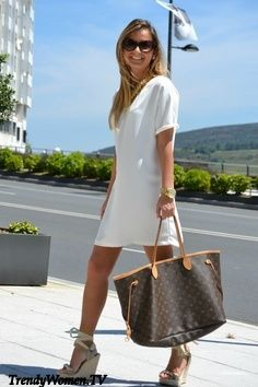 I love just a plain white t-shirt dress with espadrilles! So cute!