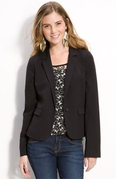 Frenchi® One Button Blazer (Juniors) available at #Nordstrom
