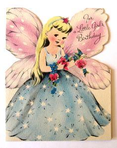Vintage  Birthday Card - For A Little Girl's Birthday
