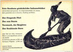 Original-Werbung/ Anzeige 1933 - KOSMOS / FRITZ STEUBEN'S INDIANER-BÜCHER - ca  155 x110 mm