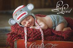 Baby sock monkey :)