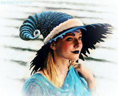Tattered Brim Ice Mage Hat. Wizard Costume Hat. Fantasy Hat. Cosplay Hat. LARP.