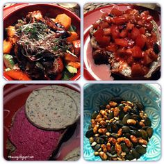 Bunter Salat und Abendbrot bei Regina.
