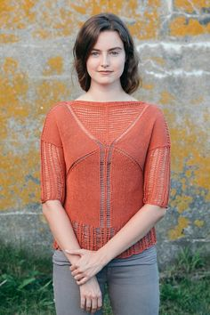 arris tee knitting pattern - Quince and Co