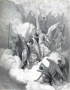 Abdiel and Satan - Gustave Dore