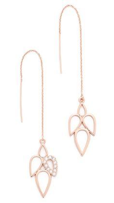 Rose-gold is flattering for all skin tones. Shopbop.com -- Sam Edelman Multi Tear Threader Earrings