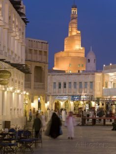 Restored Souq Waqif, Doha, Qatar, Middle East