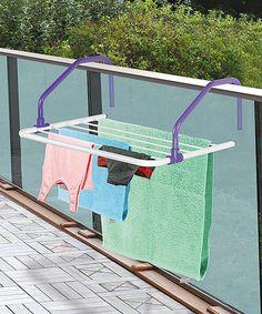 Purple Rail Mate Balcony Dryer