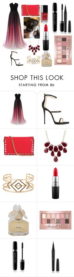 """""""Red Carpet Outfit 2"""" by dari-stanculescu ❤ liked on Polyvore featuring Giuseppe Zanotti, INZI, Charlotte Russe, Stella & Dot, Chanel, MAC Cosmetics, Marc by Marc Jacobs, Maybelline and Marc Jacobs"""
