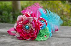 Satin Flower Couture Headband   Photo Prop  by LittleLadyAccessory, $18.00