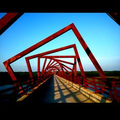 Take advantage of the warm weather and drive out to Madrid, Iowa to see the Trestle Trail Bridge. It lights up at night!