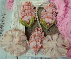 Shabby Chic Vintage Millinery Flowers Premium Assortment in Pink Tones