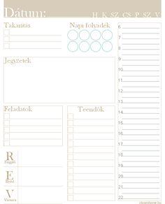 Nyomtatható napi tervező - Eloise's Home - Printable daily planner