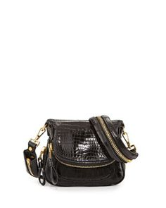 V1UKD Tom Ford Jennifer Mini Alligator Crossbody Bag, Black