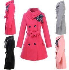 Women's Double-breasted Luxury Winter Wool Coat BBCIBH