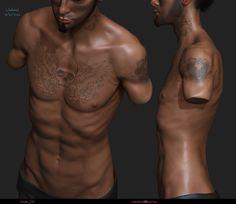 skinny Man Torso, Andre SiK on ArtStation at https://www.artstation.com/artwork/xZDDW