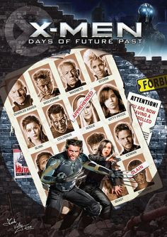 X-Men: Days of Future Past fan art poster << Oh, MAN, why didn't they actually do something like this?