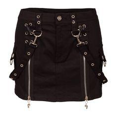 Jawbreaker Black Zip Skirt | Gothic Clothing | Emo clothing |... (550 ARS) ❤ liked on Polyvore featuring skirts, bottoms, saias, black, gothic lolita skirt, zip skirt, zipper skirt, gothic skirts and punk rock skirts