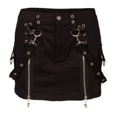 Jawbreaker Black Zip Skirt | Gothic Clothing | Emo clothing |... ($41) ❤ liked on Polyvore featuring skirts, bottoms, saias, black, zip skirt, zipper skirt, gothic skirt, black gothic skirt and goth skirt