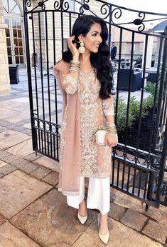 Image may contain: 1 person, standing Desi Wedding Dresses, Indian Wedding Outfits, Bridal Outfits, Indian Outfits, Indian Wedding Guest Dress, Indian Weddings, Eid Outfits Pakistani, Pakistani Dress Design, Shalwar Kameez Pakistani