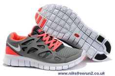 Nike Free Run 2 Womens 443816-016 Gray Pink Sale Running Shoes Nike 564c58f03eee