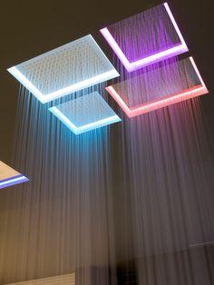 Built-in overhead #shower with chromotherapy METEO XL by Antonio Lupi Design | #design Nevio Tellatin #wellness @antoniolupi