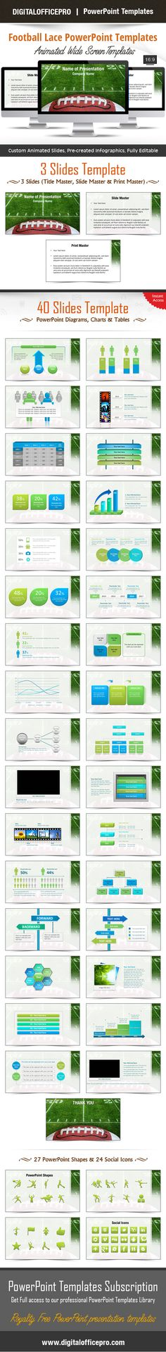 Impress and Engage your audience with Football Lace PowerPoint Template and Football Lace PowerPoint Backgrounds from DigitalOfficePro. Each template comes with a set of PowerPoint Diagrams, Charts & Shapes and are available for instant download.