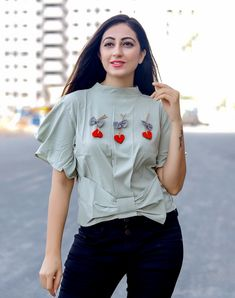 Dear Customers,  Welcome to Western wear  We are introducing new western tops catalog   cloth :- Tokko imported stretchable fabric  concept :-Designer bow with heart crop top  Length :-21 inch            Size:-M-36 L-38 Xl-40  SINGLE RATE-575/-WITH GST  🚛 : Dispatch :- redy to ship Happy selling...  Always with you...👍 ETHNICRANG THANKS SIR/MADAM.. #surat #designer #fashionblogger #pune #bangalore #delhi #westernfashion #westernwear #westerntops #fashion #style #dharaatara #wholesa.. Western Tops, Western Wear, Crop Top Designs, Kids Frocks Design, Girls Crop Tops, Saree Photoshoot, Kids Tops, Western Dresses, Simple Dresses