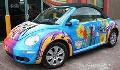 B52's Air brushed VW Beetle Convertible