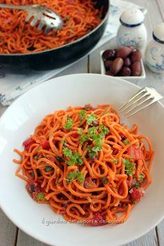 Quanti modi di fare e rifare: Spaghetti alla puttanesca | il giardino dei sapori e dei colori | Bloglovin'