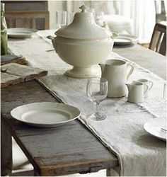 Ironstone table setting