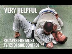 Ways Out of Side Control, Scarf & Knee on Belly Krav Maga Techniques, Jiu Jitsu Techniques, Martial Arts Techniques, Self Defense Techniques, Judo, Kung Fu, Jiu Jutsu, Jiu Jitsu Videos, Mma