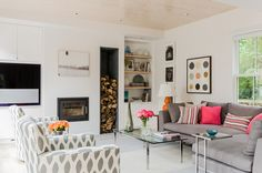 eclectic family room by Terrat Elms Interior Design