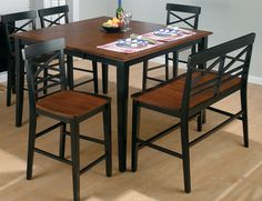 casual tuscan dining room set | ... Height Dining Set in Merlot Finish | Buy Dining Room Furniture Online - kinda cool