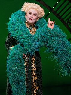 Madame Morrible- Kim Zimmer (She was great!) Wicked Costumes, Broadway Costumes, Cosplay Costumes, Ballet Costumes, Broadway Wicked, Wicked Musical, Aladdin Musical, Wicked Good, Fantasy Costumes
