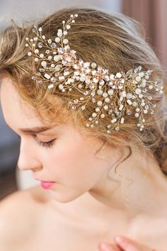 Cheap hair accessories, Buy Quality wholesale hair accessories directly from China accessories wholesale Suppliers: Leaf And Branch Bridal Headpiece Pearls Beaded Hair Clip Handmade Wedding Hair Accessories 2017 Wholesale Luxury Hair Adornment Gold Hair Accessories, Wedding Accessories, Luxury Hair, Bridal Hair Vine, Floral Hair, Wedding Hairstyles, Floral Wedding, Crystal Flower, Handmade Wedding